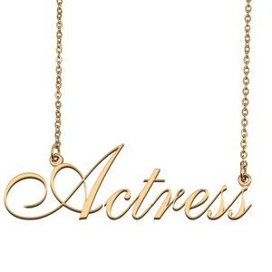 Custom Personalized Actress Name Necklace